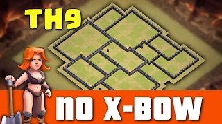 Town Hall 9 War Base Without X-BOW ♦ TH8.75 War Base 2016 (JULY) ♦ Anti 3 Star