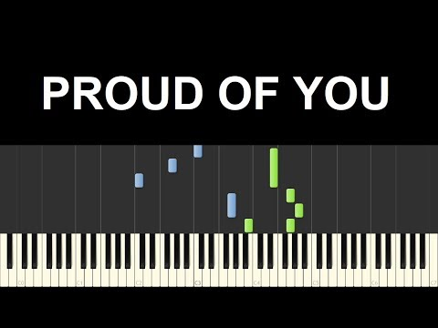 ♪ Easy Piano Tutorial: Proud of you