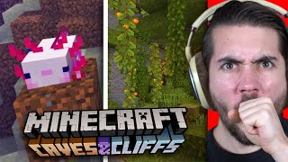 Reacting To The NEW Minecraft Caves And Cliffs Update!