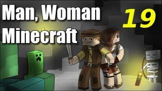 "Man Woman Minecraft S2E19 ""Kitty?"" (Jungle Island Survival)"