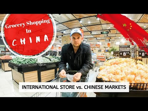 GROCERY SHOPPING IN CHINA | International Supermarket vs. Chinese Markets! | Expat Life In Xi'an