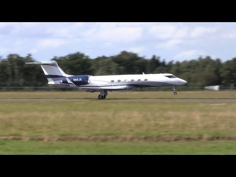 Gulfstream V ► Takeoff ✈ Groningen Airport Eelde