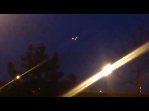 3 UFO Objects in triangular formation separate, shows signs of intelligent behavior, are they Et?