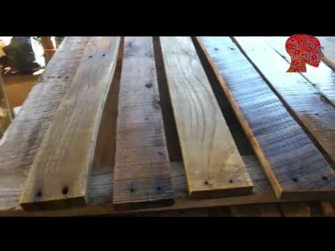 Woodworking # 46 - DIY Pallet Book Shelf's From Old Pallets - Reclaimed Wood