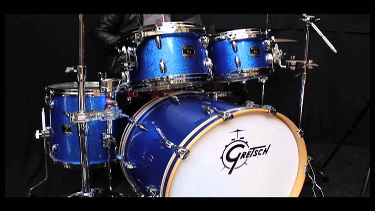 gretsch renown blue sparkle drum kit 22x16 10x7 12x8