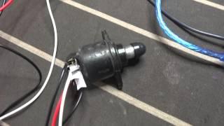 Test moteur pas à pas de ralenti - idling stepper motor engine test - Arduino + motor shield
