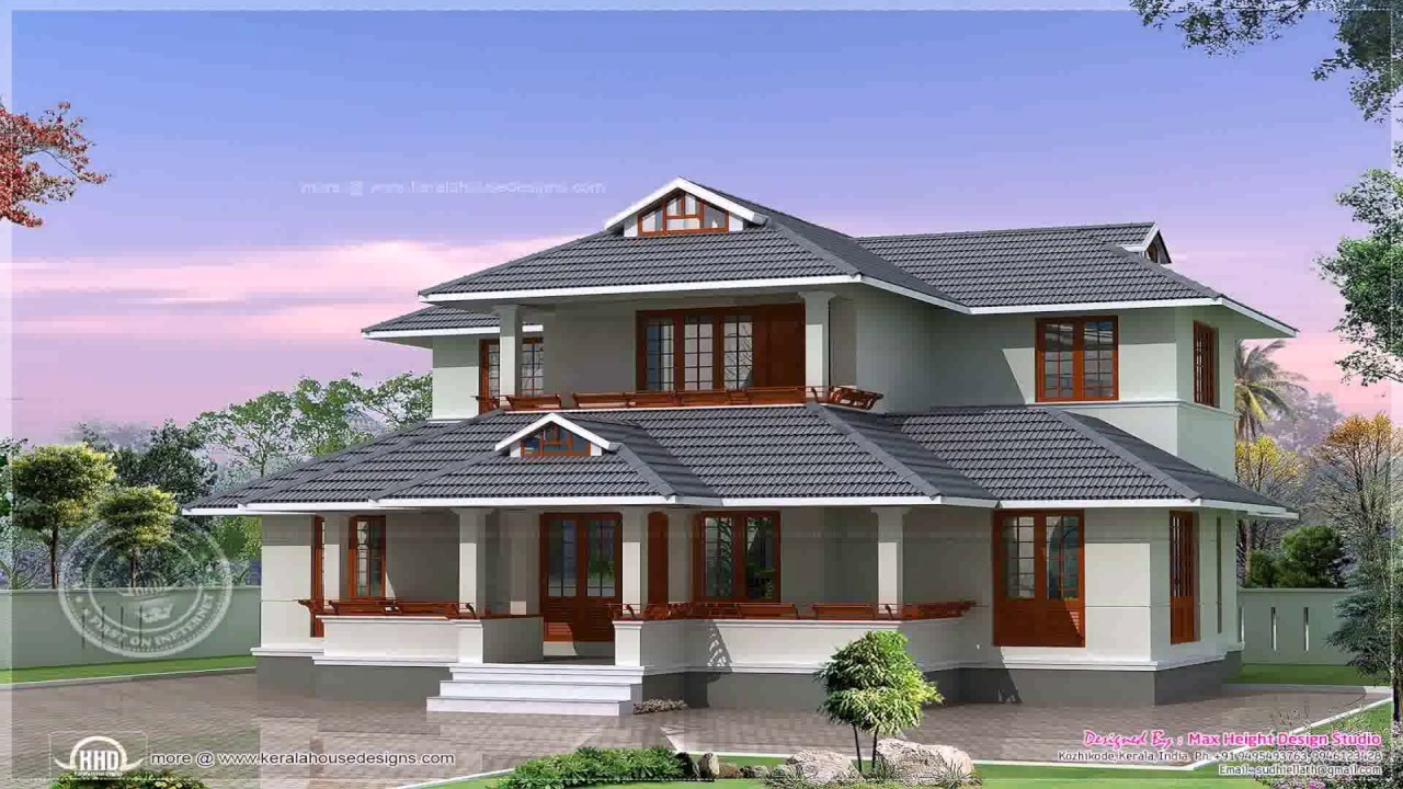 Kerala style house plans 1800 sq ft youtube for House photos and plans