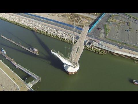Rhyl Pont Y Ddraig Pedestrian and Cycle Bridge September 2013