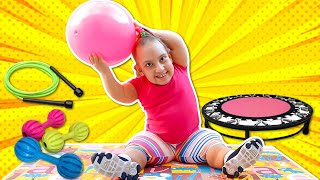 Maria Clara quer ser magra (Kid wants to be Slim, Exercises and eat Healthy food) - MC Divertida