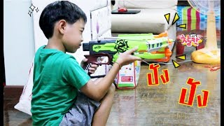 ยิงปืน Nerf Zombiestrike Crossfire bow ปืนหน้าไม้ l น้องสิงโต วีคิดสมาย