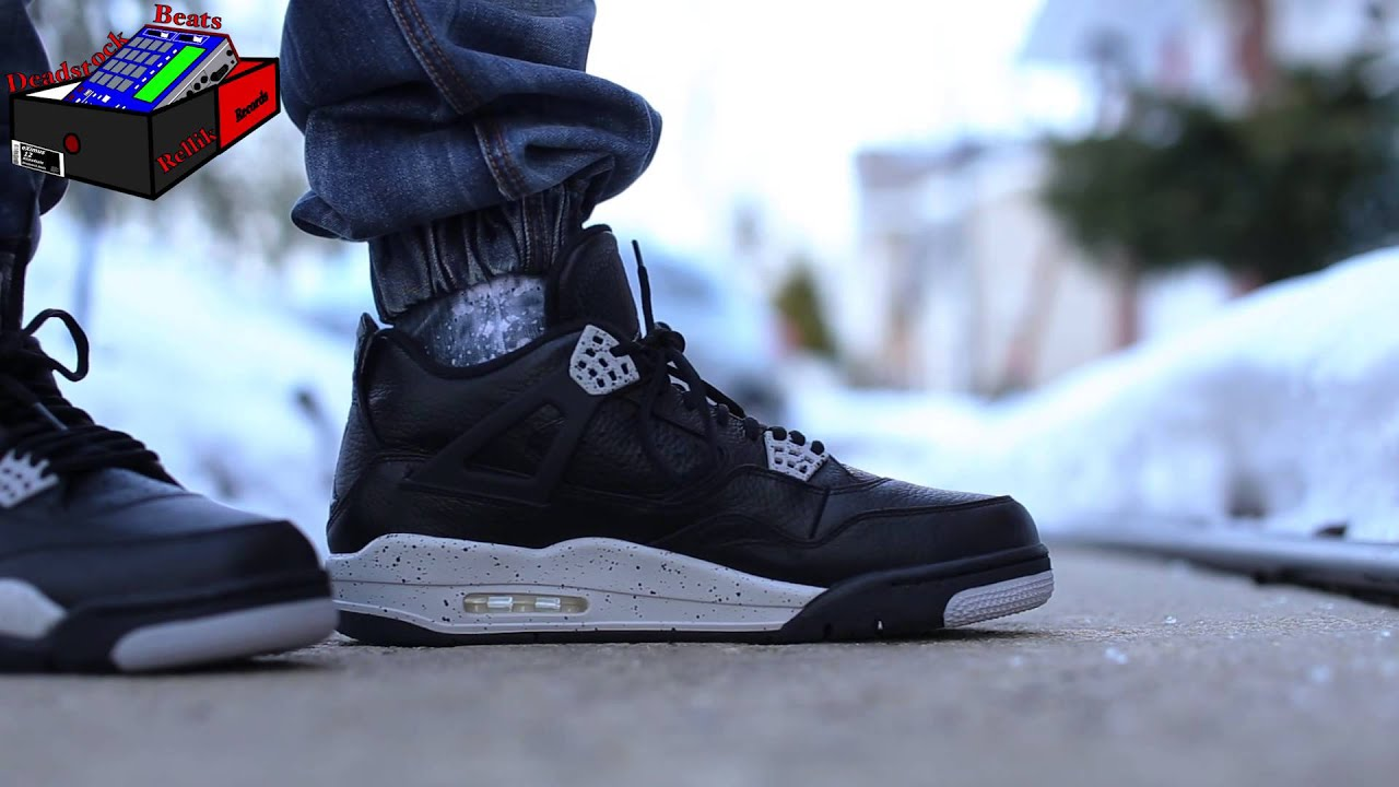 buy online 67d3f 2589f Jordan 4 Oreo On Feet