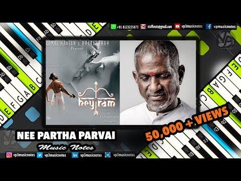 (Ilayaraja) Nee Partha - Janmon ki Jwala - Piano Notes - MIDI - Sheet Music - Karaoke
