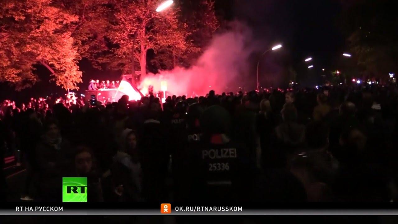 Первомай в Берлине: столкновения леворадикалов с полицией