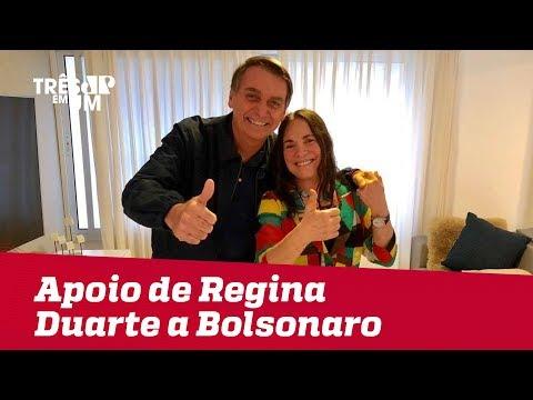 O apoio de Regina Duarte a Jair Bolsonaro