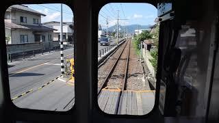 福島交通 飯坂電車 7000系 車庫から本線へ