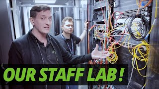 A DAY in the LIFE of a DATA CENTRE | WHAT is in our STAFF LAB?