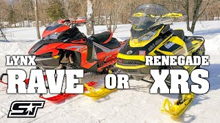 2022 Lynx RAVE RE Compared To The Ski Doo Renegade XRS