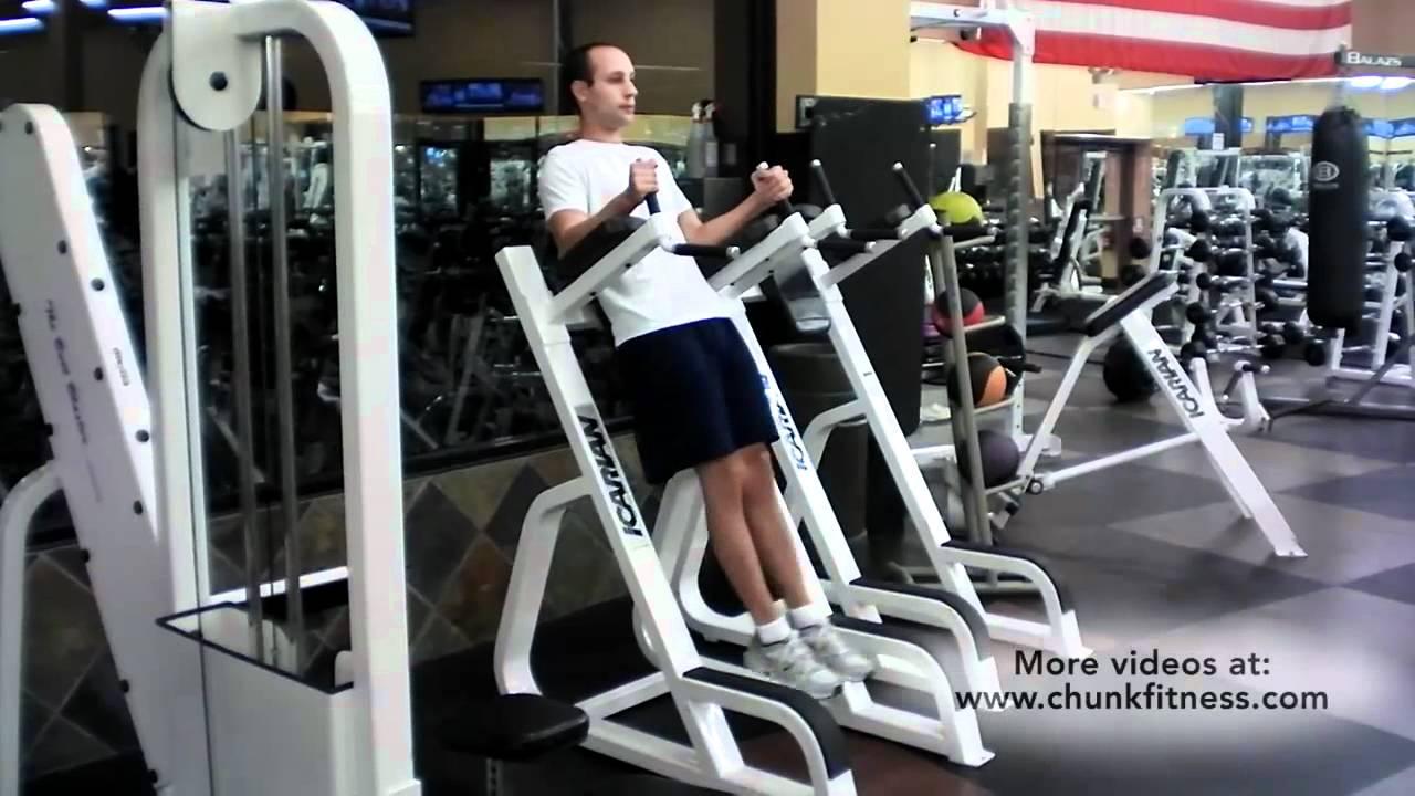 leg raises machine
