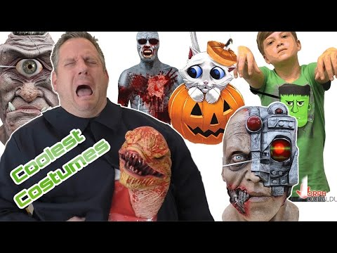Digital Animatronic Costumes | Digital Dudz | Alien Costume | MorphSuit Cyclops & Cyborg Masks