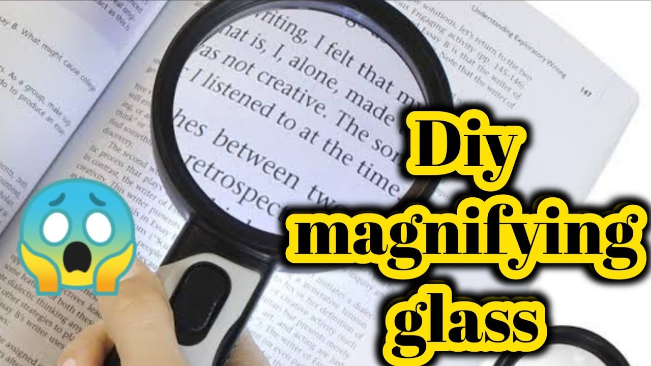 Diy homemade magnifying glass|Diy magnifying glass making at home|How to make magnifying glass