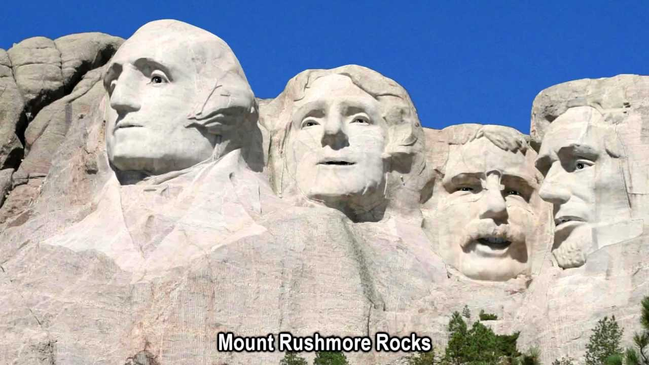what type of rock is mount rushmore made out of