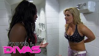 Natalya is embarrassed during her match against Naomi: Total Divas, Nov. 10, 2013