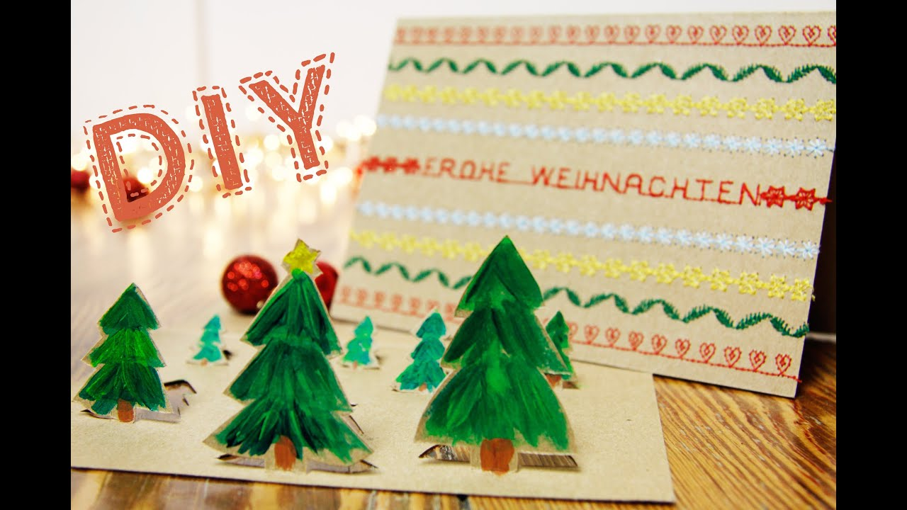 diy christmas cards weihnachtskarten youtube. Black Bedroom Furniture Sets. Home Design Ideas