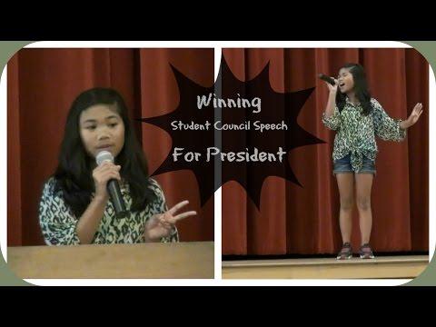 Winning Student Council Speech For President | Charisma Joy