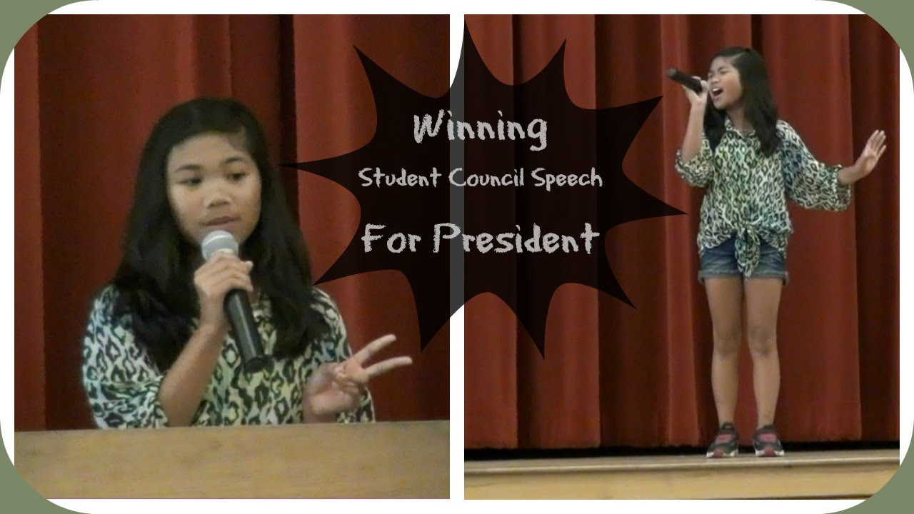 Campaign speech for student council.