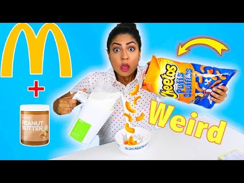 Trying WEIRD FOOD Combinations