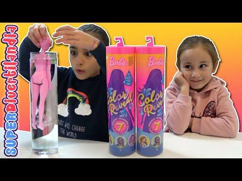 muÑecas-cubiertas-de-pintura!!-barbie-color-reveal-en-superdivertilandia.