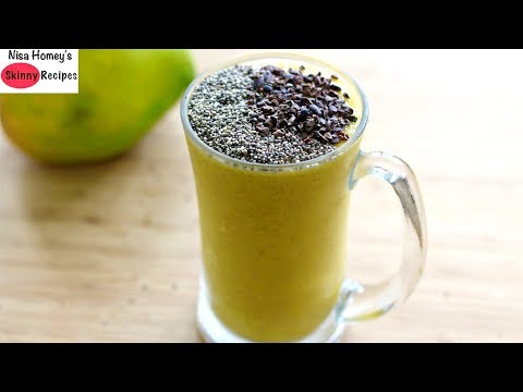 How To Lose 1 Kg In 1 Day - Weight Loss Breakfast Smoothie With Chia Seeds & Flaxseeds