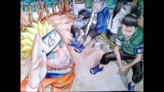 Speed drawing-Naruto,shikamaru,neji,chouji e kiba