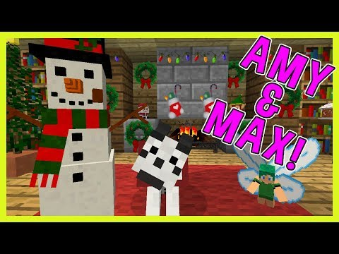 CHRISTMAS DECORATIONS! | Amy & Max! Ep.60 | Minecraft