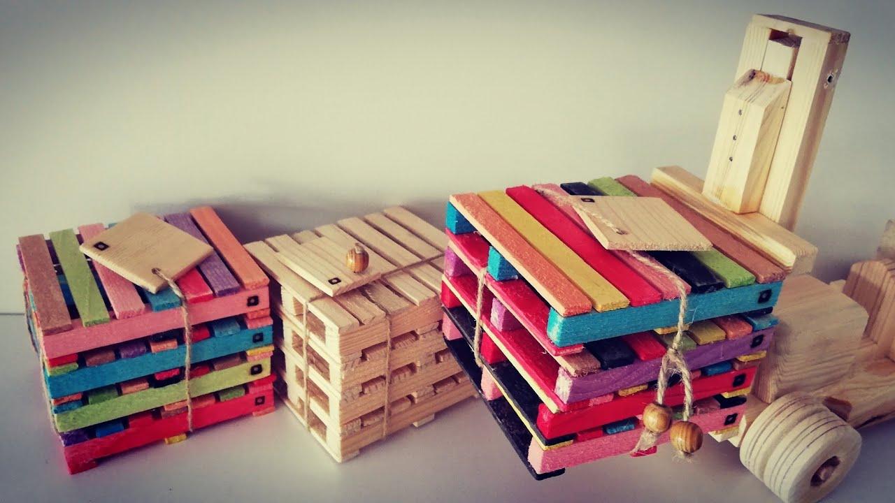 Rengarenk palet yapalım / diy easy colorful toy pallet / diy paleta de jugueta colorido