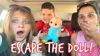 COCOMELON BABY FOLLOWS US HOME! Can AUBREY & CALEB Escape THE CRAZY DOLL?