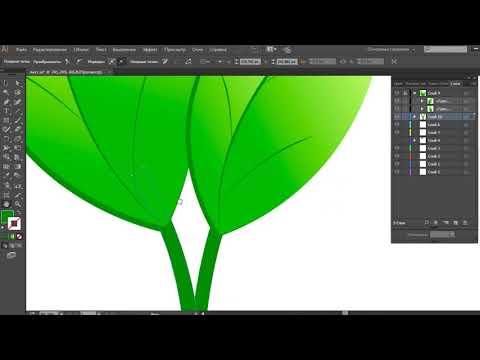 КАК ПРОСТО НАРИСОВАТЬ ЛИСТЬЯ В  программе Adobe IllustratorКАК ПРОСТО КАК