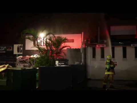 lala land Byron Bay Nightclub Fire Saterday 4th January 2014