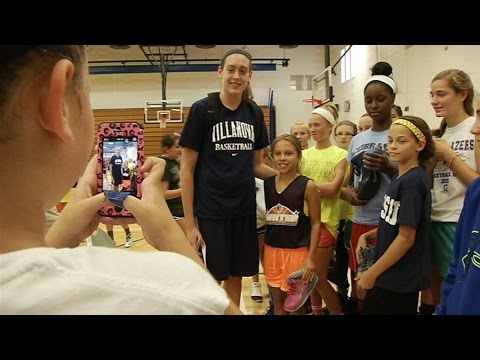 OCC girls basketball campers meet Breanna Stewart