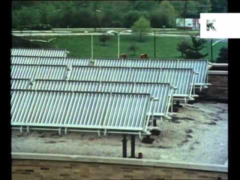 Mid 1980s USA, Solar Panels, Renewable Energy, Power, Archive Footage