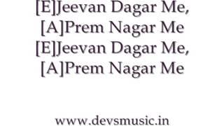 Mitwa Karaoke Guitar chords www.devsmusic.in Devs Music Academy