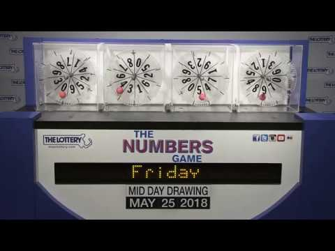Midday Numbers Game Drawing: Friday, May 25, 2018
