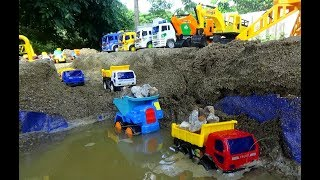 Construction Truck and Excavator Working for kids - Car for children - Kids Song