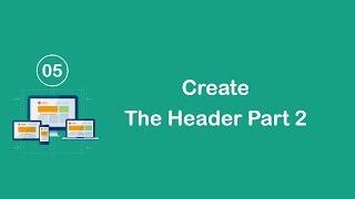 Responsive Design in Arabic #05 - Create The Header Part 2