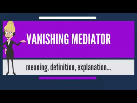 What is VANISHING MEDIATOR? What does VANISHING MEDIATOR mean? VANISHING MEDIATOR meaning