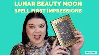 Lunar Beauty Moon Spell First Impressions | Colourful Work Makeup | pruelaroo