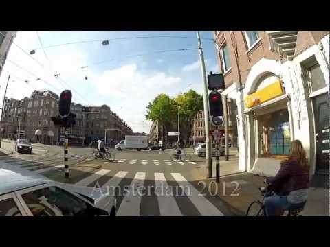Amsterdam city center motorcycle ride with helmet mounted Gopro camera - Part 3