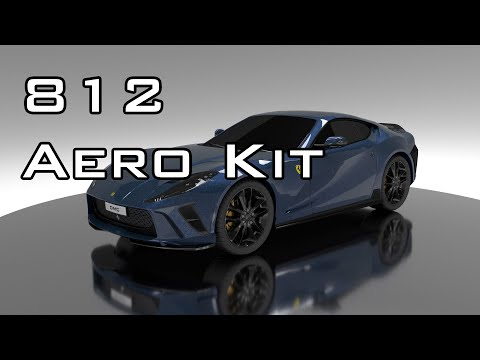 Ferrari 812 Carbon Fiber Wing, Front Lip, Diffuser, Skirts & more. Full Aero Kit by DMC