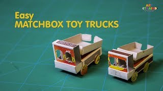 how To Make A Matchbox Toy Car at Home - DIY Powerful Mini Matchbox Toy Truck - Electric Toy Truck