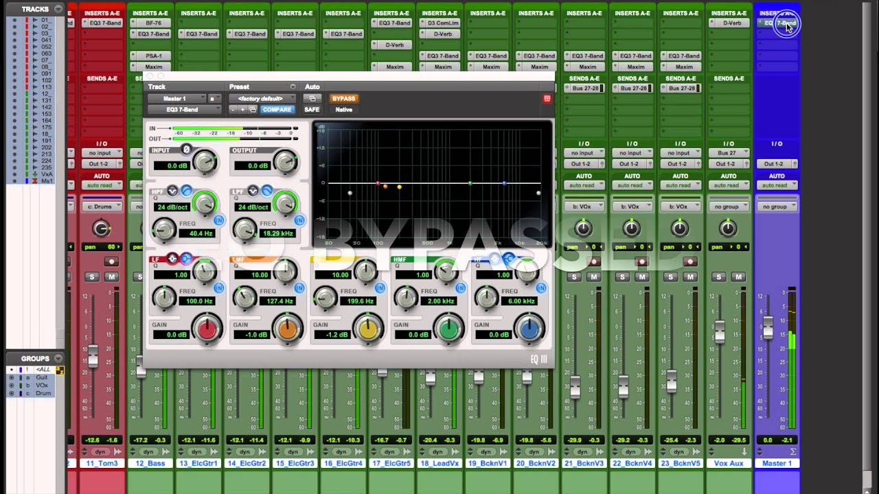 basic mastering in pro tools 11 with basic stock plugins youtube. Black Bedroom Furniture Sets. Home Design Ideas